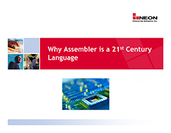 Why Assembler is a 21st Century Language