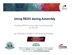 Using REXX during Assembly